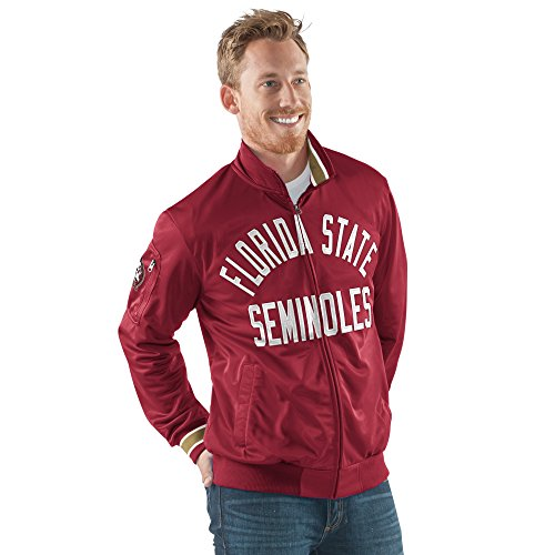 NCAA Florida State Seminoles Men's Contender Full Zip Track Jacket, X-Large, (Garnet Florida State Seminoles Jacket)