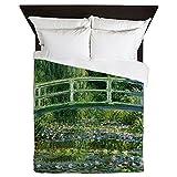 CafePress - Monet Japanese Bridge - Queen Duvet Cover, Printed Comforter Cover, Unique Bedding, Microfiber