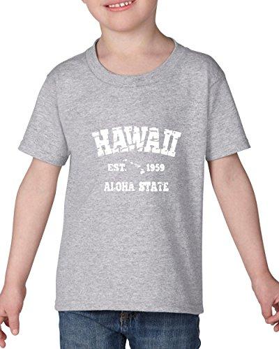 Hawaii T-Shirt Hawaiian Islands 1959 Places To Travel In Aloha State Hi Honolulu Kauai Maui OAHU Heavy Cotton Toddler Kids T-Shirt Tee - Island Fashion