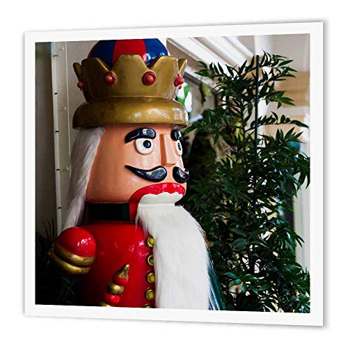 3dRose ht_205627_3 USA, Florida, Palm Beach, Worth Avenue, Large Nutcracker Statue Iron on Heat Transfer, 10 by ()