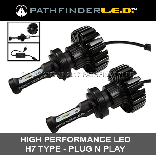 Goldwing Replacement (H7 LED Headlight Replacement Bulbs for Honda GL1800 & F6B)