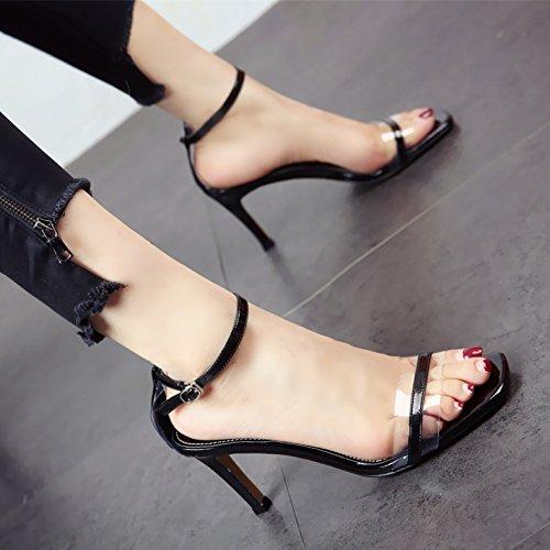 Sandalias Pelúcida Dama Tacones C De Dedos Nueva Alto Ymfie Zona Verano Zapatos Tacón Y vX74wqwYx