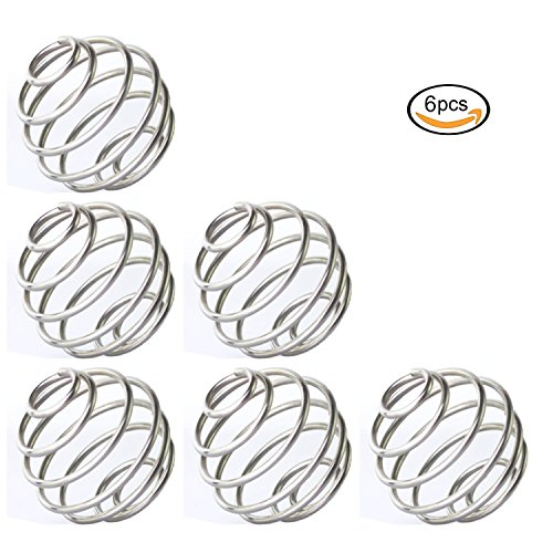 Zaker Stainless Ball Wire Shaker ball, Wire Mixer Mixing Whisk Ball Replacement For Shaker Cup,Pack of 6