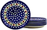 Polish Pottery Set of 6 Plates 7-inch Mosquito
