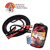 Dr.Booster™ Heavy Duty Booster Cables, 4 Gauge, 25 FT, 600 AMP. Best Jumper Cables For Your Car and Truck Battery. With Free Carrying Case and Pair of Working Gloves