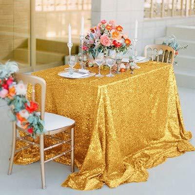 KSFDNV Konferenztafel, Hochzeitstraksel, ThementischCover, pink Paillettentablette, Rundtischtablette, silvernes Tischtuch, Party 228335cm Helles gold