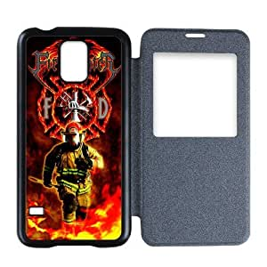 Generic Custom Unique Otterbox You Deserve--American Flag Firefighter Emblem in Flames Fire Rescue Symbol Plastic Back Flip Case Cover for SamsungGalaxyS5