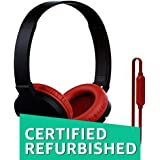 (Certified REFURBISHED) SoundMagic P10S Headphones with Mic (Black/Red)