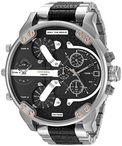 Diesel Men's DZ7349 Mr Daddy 2.0 Analog Display Analog Quartz Silver Watch