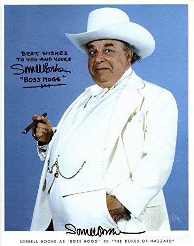 (Sorrell Brooke Boss Hog Dukes Hazzard Signed Autographed 8x10 Inch Photo)