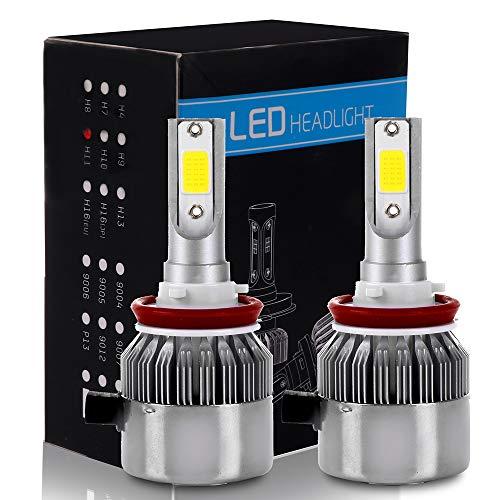 ECCPP H11/H8/H9 LED Headlight Bulb Hi/Lo Beam White Fog Lights Conversion Kit - 80W 6000K 10400Lm - 3 Year Warranty(Pack of 2)