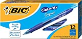 BIC Gel-ocity Original Retractable Gel Pen, Medium Point (0.7 mm), Blue, 12-Count