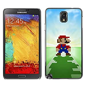 LOVE FOR Samsung Note 3 N9000 Pixel Mario Personalized Design Custom DIY Case Cover