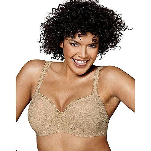 Playtex Women's Secrets Body Revelations Underwire Bra, Nude Jacquard, 38C (Womens Foam Bras)