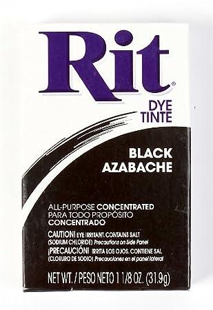 Rit Dye Powder Dye, 1-1/8 oz, Black, 10-Pack BCAC30294