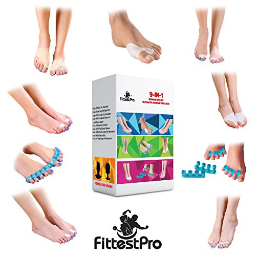 bunion-relief-ultimate-bundle-package-pack-of-18-toe-straightener-separator-spreader-corrector-prote