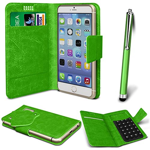 N4U Online® - Apple iPhone 3GS PU aspiration étui en cuir Wallet Pad Cover & High Sensitive Stylus Pen - Vert