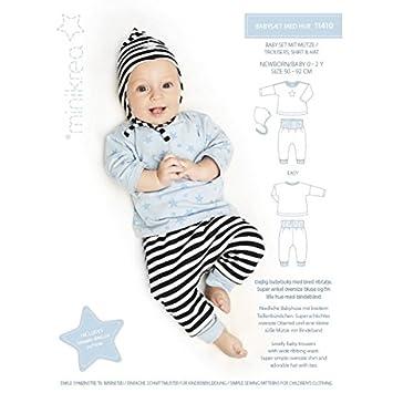 MAGAM-Stoffe \'\'Baby-Set mit Mütze\'\' Schnittmuster für Neugeborene ...