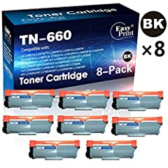 Product item:8-Pack Compatible TN660 TN-660 Printer Toner Cartridges TN-630 for Brother HL-L2340DW HL-L2380DW HL-L2340DWR DCP-L2500D DCP-L2540DNR MFC-L2720DW MFC-L2700DW Printer (8x Black)br>100% Compatible with following printers:  Brothe...