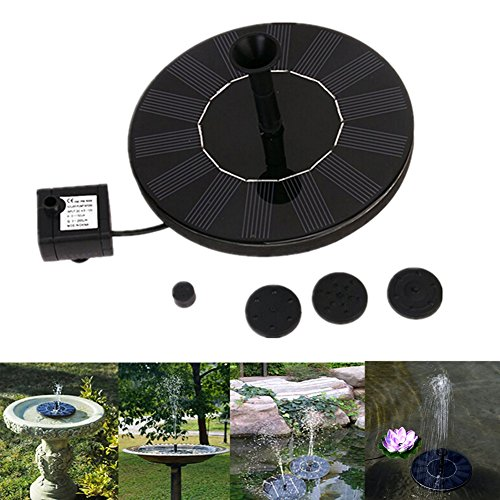dream_light Solar Fountain, 1.4W Outdoor Solar Powered Water Pumps Panel Kit Watering Submersible Pump For Bird Bath, Pond, Pool, Garden, Fish Tank, Aquarium, Garden and Patio by dream_light