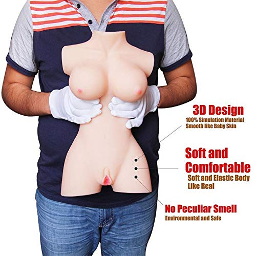 3D Realistic Female Torso Love Doles for Men Male Adult Toys for Man Relax Gifts with Soft Skin & Durable Skeleton by ASVFR (Image #8)