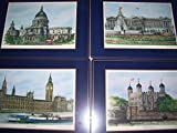 Set of (4) Harrods London England Scences Cork Placemats