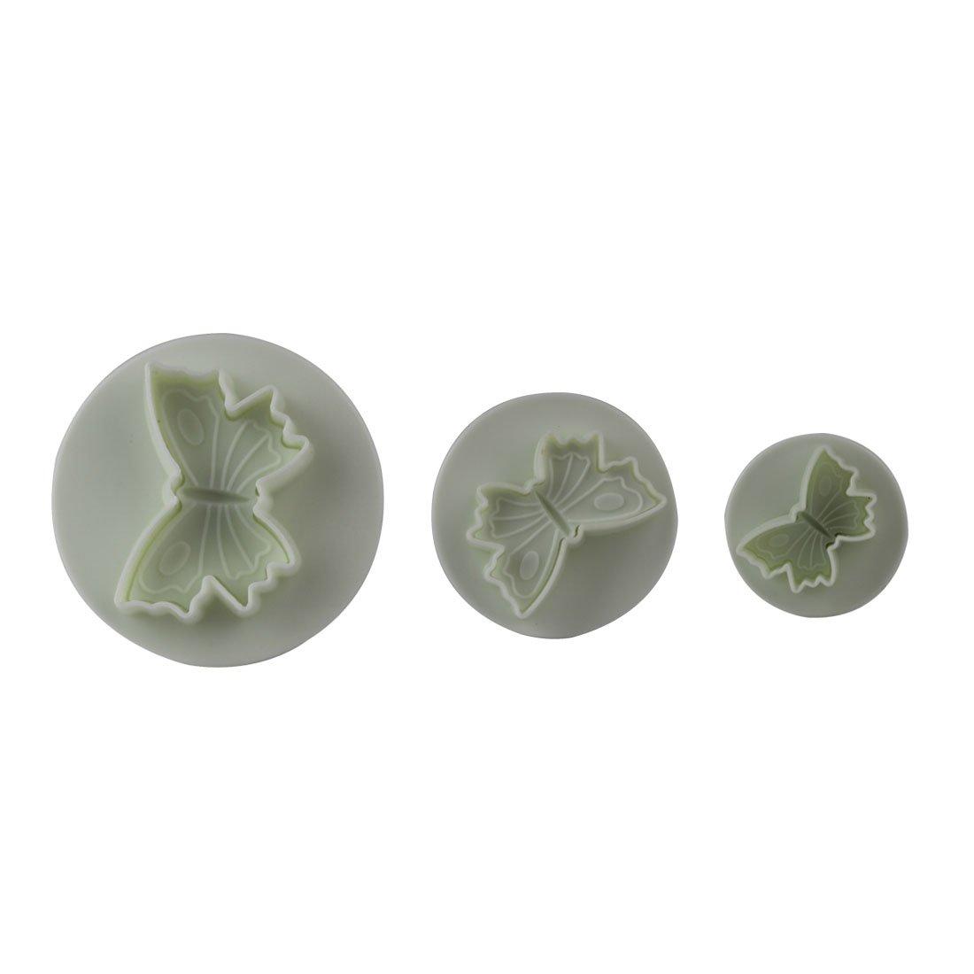 Luwu-Store 3Pcs/Set Butterfly Plunger Cutter Mold Decorating Diy Tool Christmas Kitchen Mini Fondant Molds Decorating