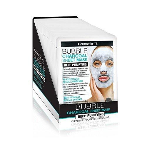 dermactin-ts Bubble antracite Sheet Mask–profonda purificante (confezione da 4) Fiske Industries