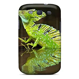 Awesome OetRzIo902brhdm Saraumes Defender Tpu Hard Case Cover For Galaxy S3- Green Iguana