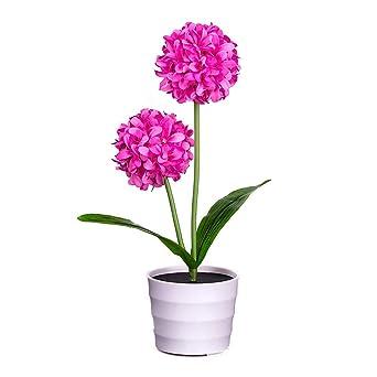 FeiliandaJJ Solar Rose Blume Lichter K/ünstliche RoseTopfblume Bonsai LED Licht Kinder Nachtlicht Innen Muttertag Geschenk Haus Deko Blau