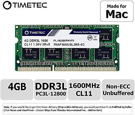 Timetec Hynix IC - Actualización de Memoria SODIMM para MacBook ...