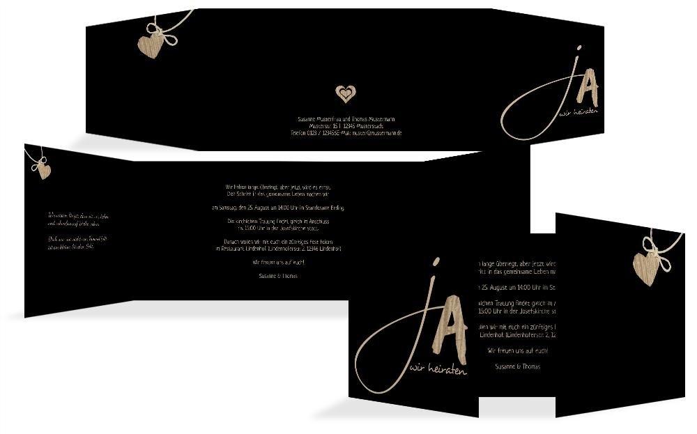 Hochzeitskarten  Einladung natürlich Ja 2, hochwertige Einladung zur Heirat inklusive Umschläge   30 Karten (format  148.00x105.00mm) Farbe  Braun B074Z4LXBW | Ab dem neuesten Modell  | Elegant und feierlich  | Ausgezeichneter Wert