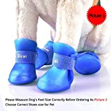 Ocathnon Shoes for Dogs, Dog Walking Shoes, Waterproof Shoes Rain Snow Boots for Small Puppy Dog, Cute Little Pet Shoes Booties, Anti-slip Boots, Measure Dog's Feet Via Picture 2