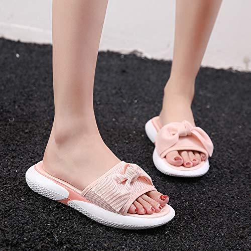 Femenino Con Zapatillas Shoe Un Phy Lazo Verano Blanco 39 Blanco De aw1I6ZqW0