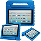 "Fintie Case for All-New Amazon Fire HD 10 Tablet (7th Gen, 2017 Release) - Kiddie Series Shock Proof Light Weight Convertible Handle Stand Kids Friendly Cover for Fire HD 10.1"" Tablet, Blue"