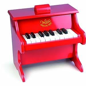 Vilac - Piano 18 teclas con partituras, color rojo (8317)