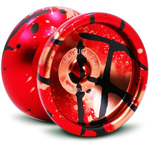 Sidekick Yoyo Pro Red Black Gold Splashes Professional Aluminum UNresponsive 7S YoYo