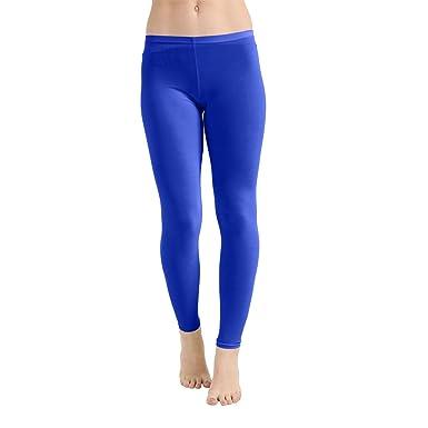 50be2064a70ba Crazy Chick® Adult Women's Microfiber Royal Blue Leggings | Ladies High  Waist Sport Jogging Yoga