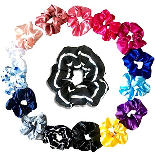 (Scrunchies for Hair - Made of Luxurious Satin Silk. Scrunchie Scrunchy Scruncies Scunci, Any Way You Say it the 80s Are Back and You Want this Cute Pack!)