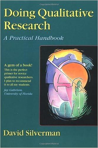 Doing Qualitative Research: A Practical Handbook by David Silverman (1999-11-03)