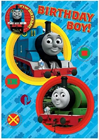 Thomas the train birthday card with badge danilo amazon toys thomas the train birthday card with badge bookmarktalkfo Image collections