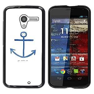 "Pulsar Snap-on Series Teléfono Carcasa Funda Case Caso para Motorola Moto X Motorola Moto X ( 1st Generation ) , Cita Marinero Blanco Azul Marino"""