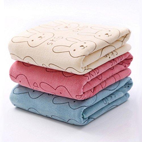 3pcs Soft Microfiber Baby Child Kids Bath Towels Brushed Str