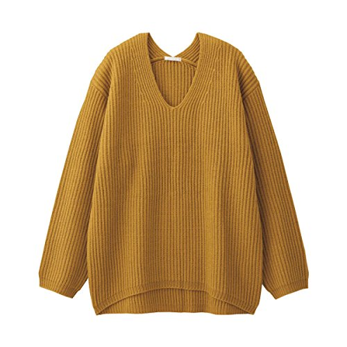 Pull Femme Pull Col V Chaud Automne Hiver Rouge Moutarde Beige Bleu,Mustard-160/84A/M