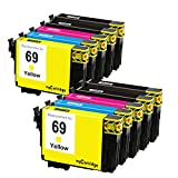 myCartridge Remanufactured Ink Cartridge Replacement for Epson 69 (4Black 2Cyan 2Magenta 2Yellow 10-pack) Fit for WorkForce 30 610 615 1100 Stylus C120 CX5000 CX6000 NX215 NX305 NX400 NX415 Printer