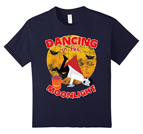 Kids Black Vampire Floor Dancing Halloween Costume t shirt 4 (Floor 4 100 Floors Halloween)