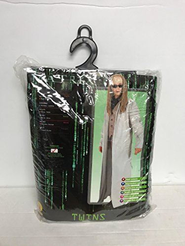 Twins MATRIX Halloween Costume (Adult Men's) Jacket size 44 with Glasses -