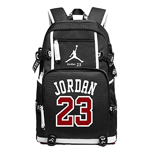 YOURNELO Basketball Player Rucksack School Backpack Bookbag (C Jordan Black)