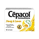 Cepacol Sensations, Fast and Effective Relief for Sore Throats, Honey Lemon, 16 Count
