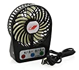 BearsFire Mini Handheld Pocket Fan Timing Set Electric Personal Fans With Timing function 4 Speeds Portable Mini USB Rechargeable Desktop Summer Cooler Fan LED Power Visual design (Black)